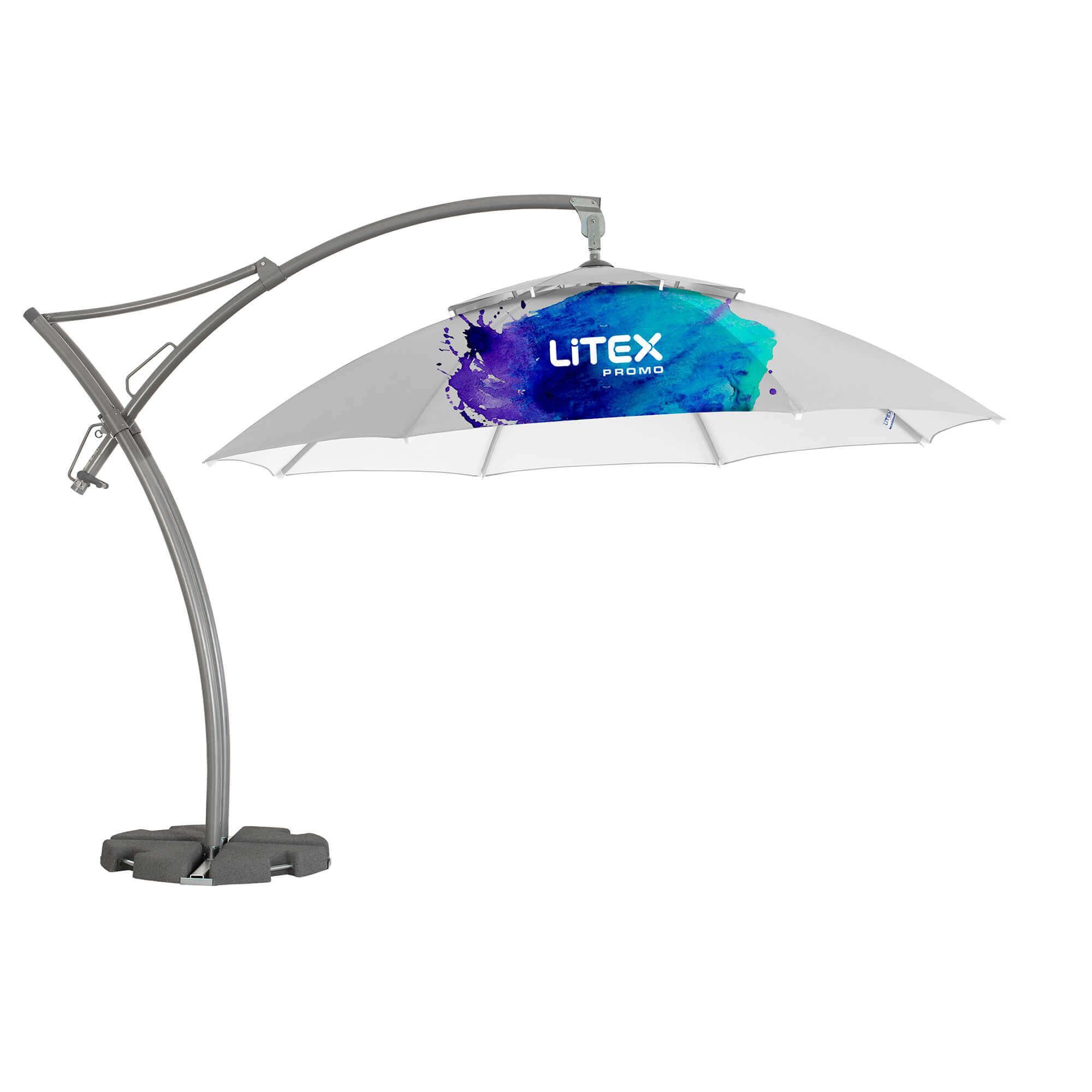 1. Ibiza Parasol Achteckig 3,5m
