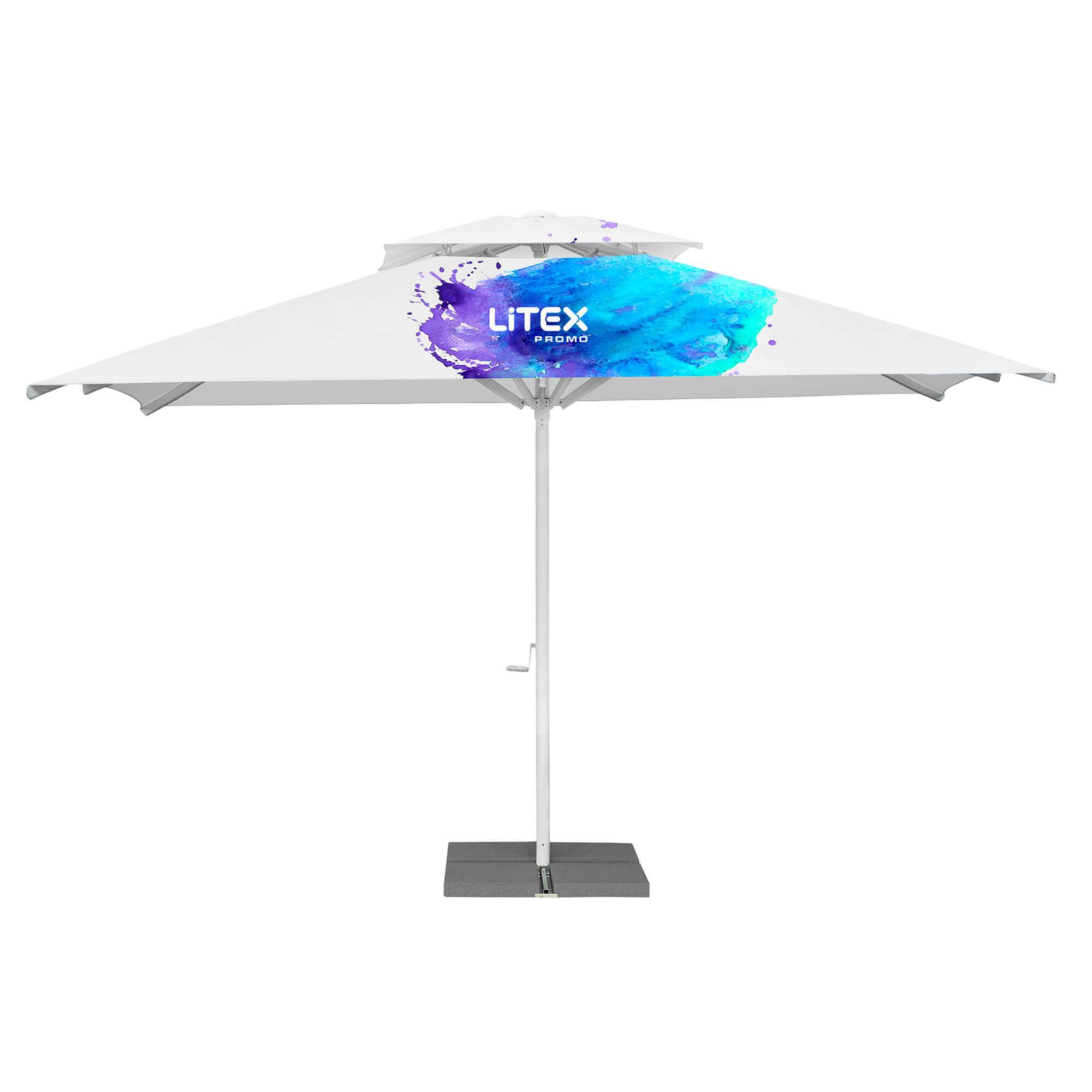 16. Premium Parasol Kwadratowy 5m - z daszkiem