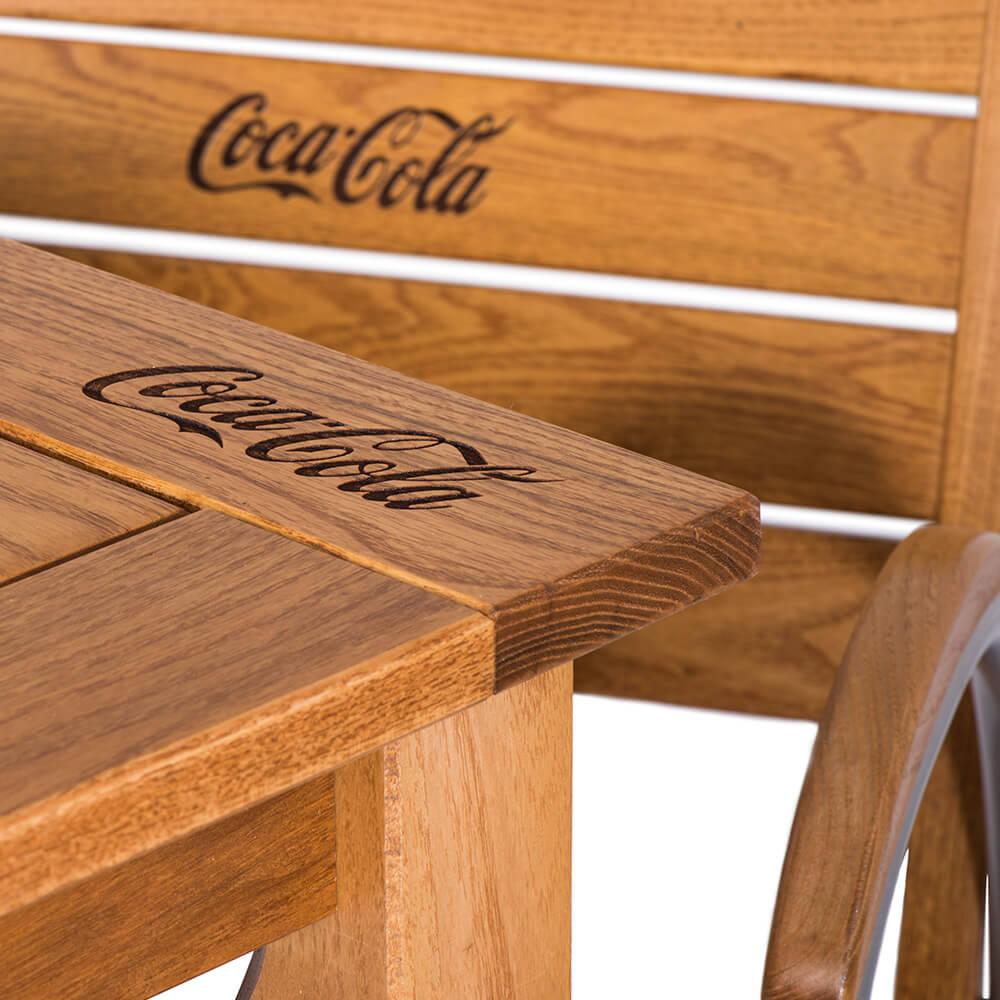 5. Komplet drewniany