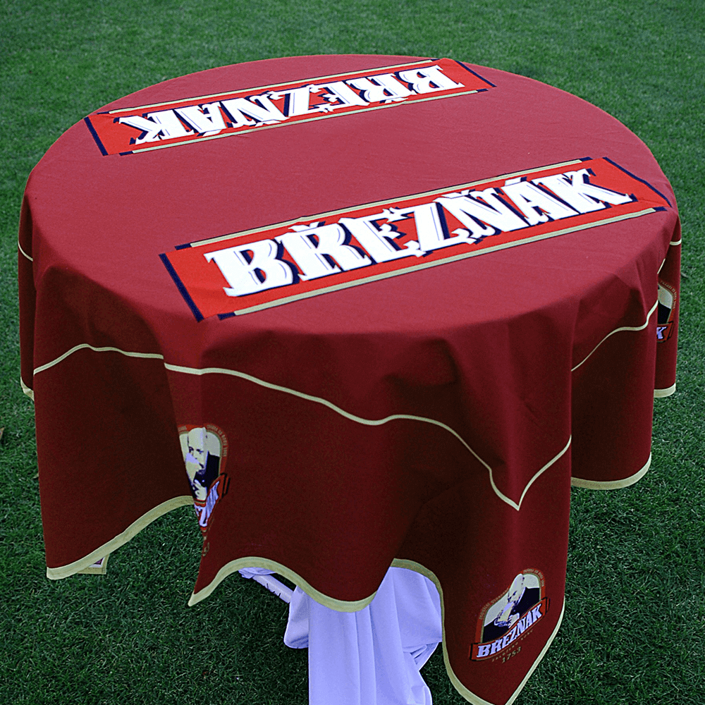 3. Tablecloth with logo