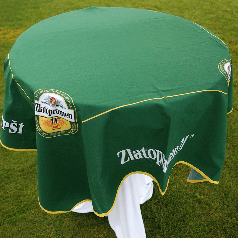 2. Promotional tablecloths with logo