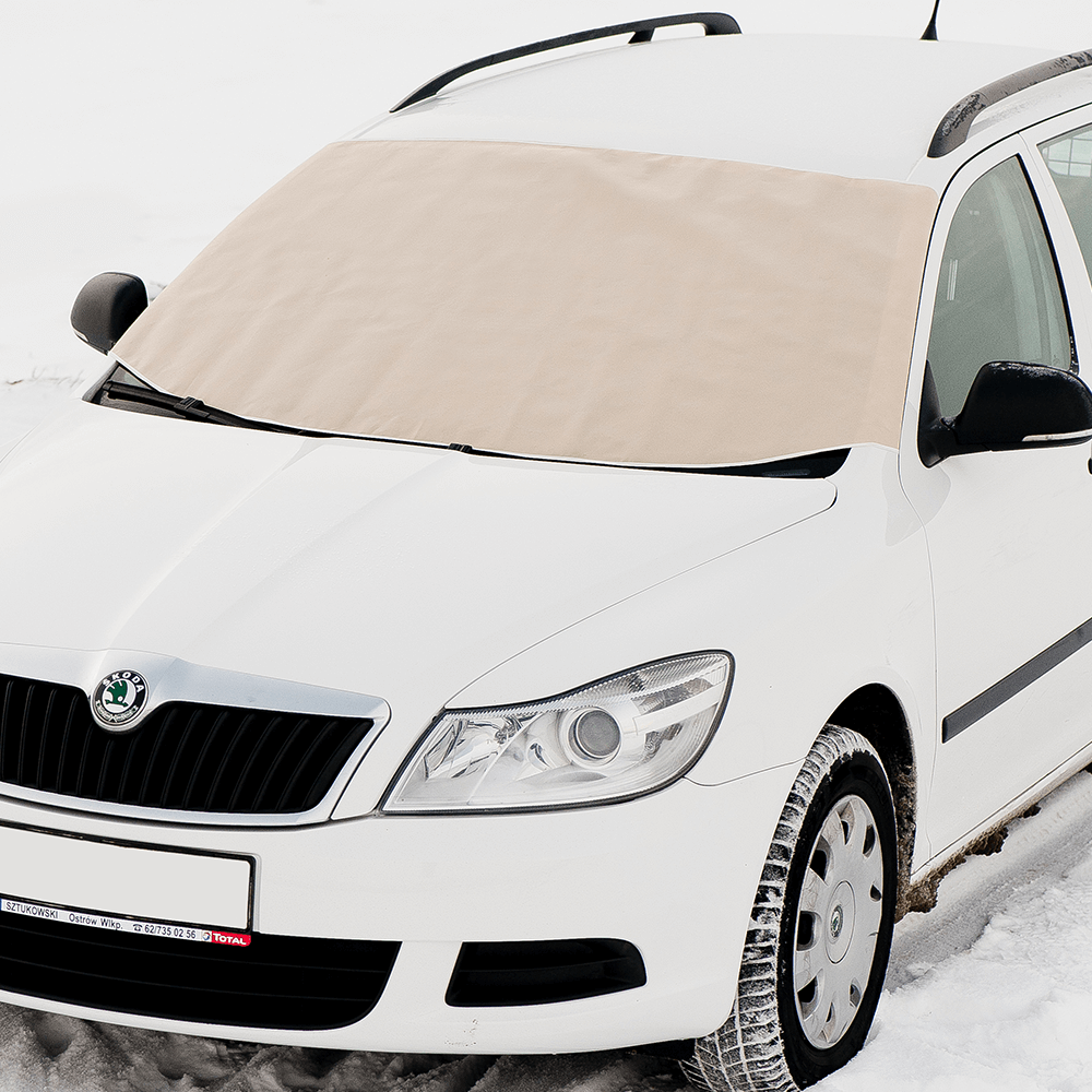 3. Osłona na szybę samochodową - zimowa - beżowa