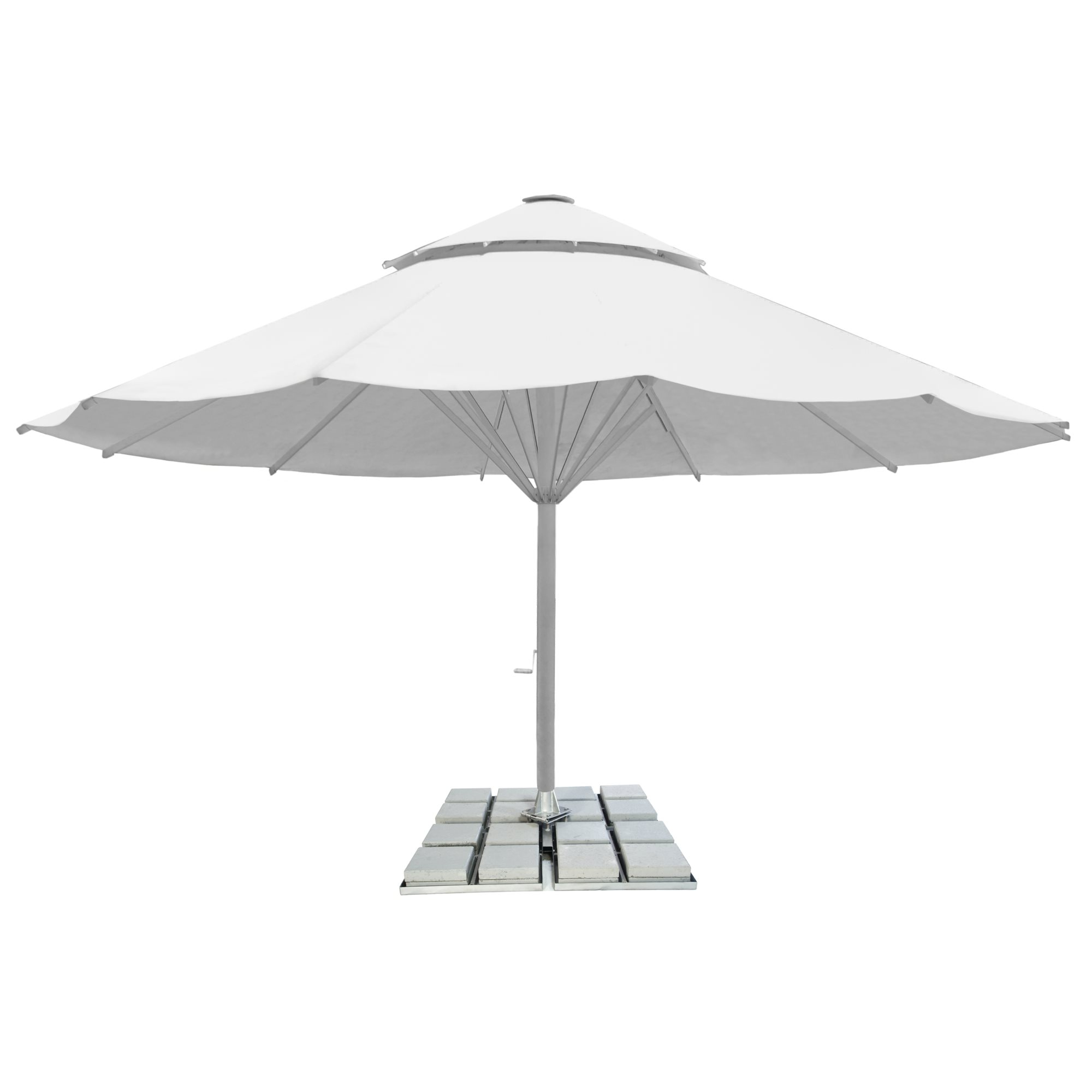 1. Giant Parasol 12-sided 8m - with 2nd roof