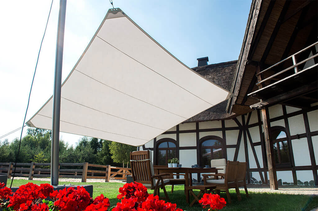 5. Garden shade sail awning Square