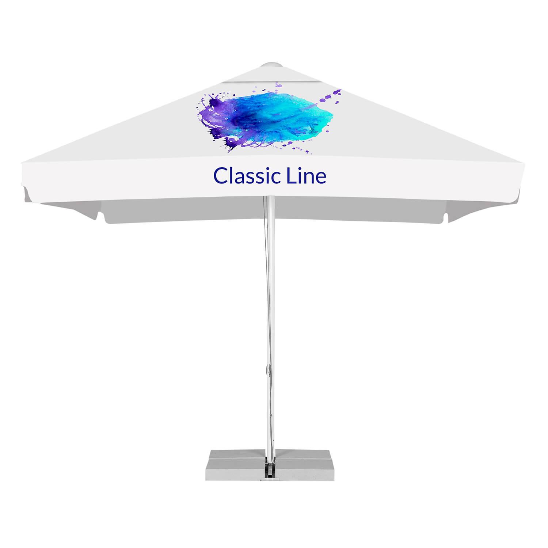 4. Classic line advertising parasols