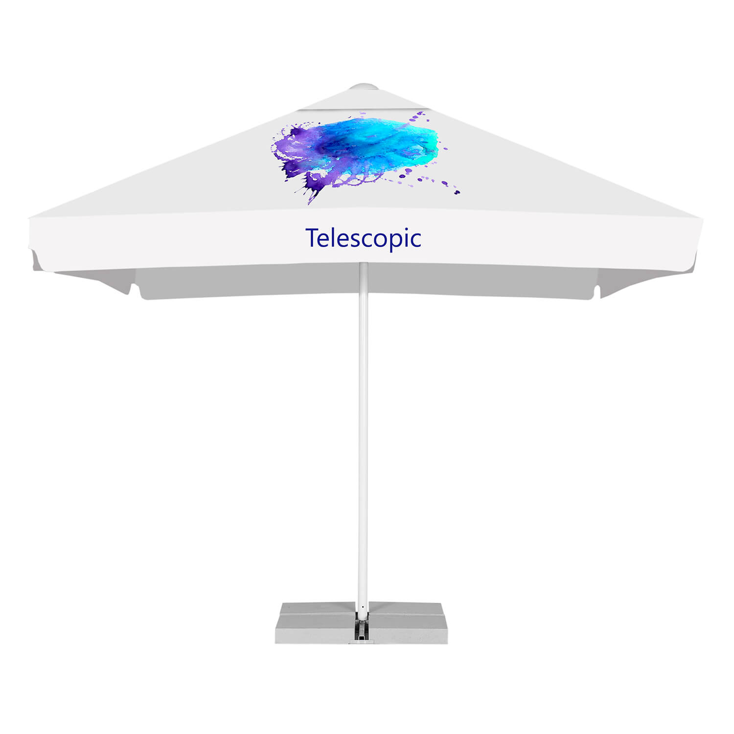 6. Telescopic advertising parasols