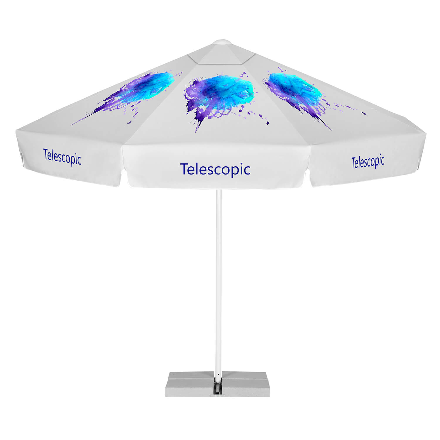 2. Advertising parasols with telescopic handle
