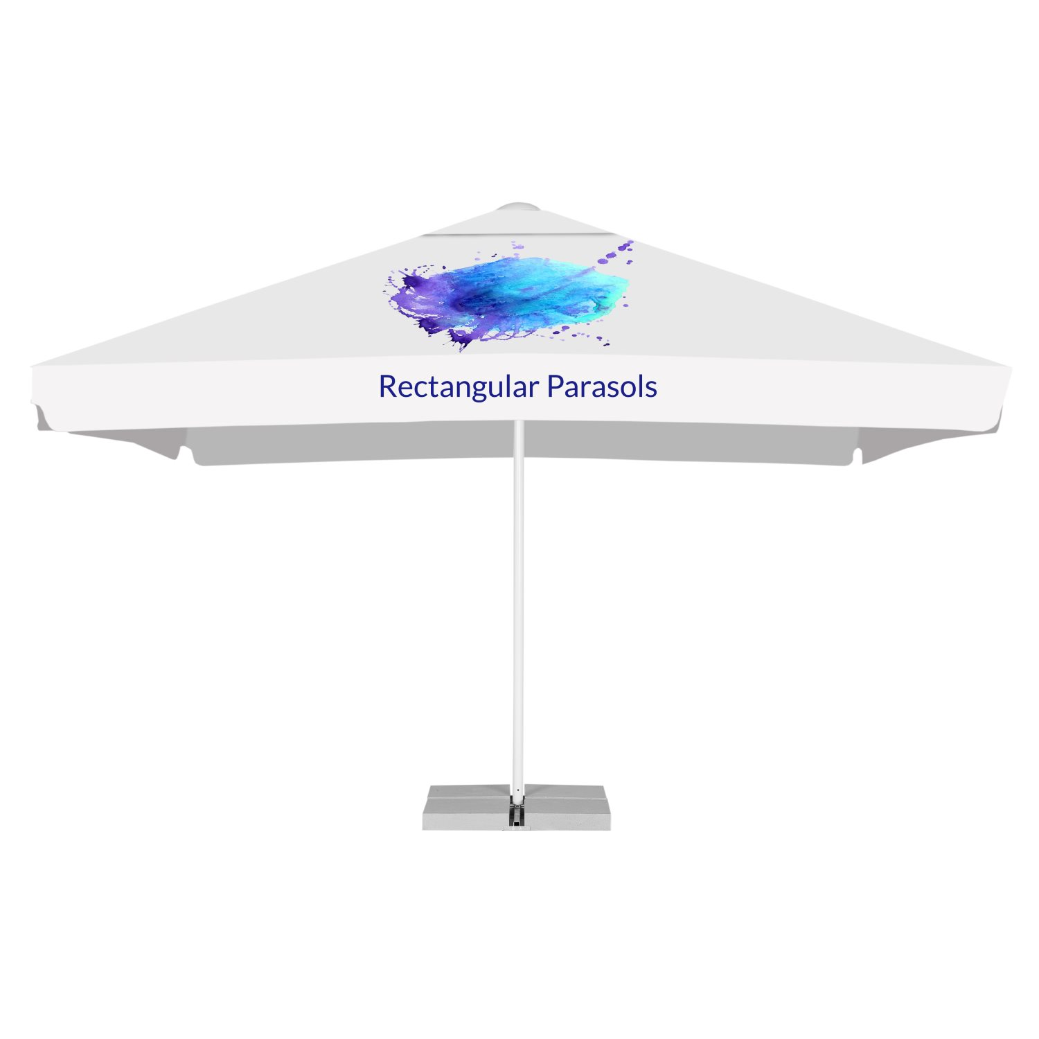 4. Rectangular advertising parasols 2 x 3 m